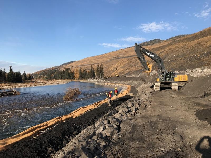 Riverbank stabilization project