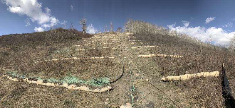 slope revegetation project, Tuscany ravine, Calgary AB