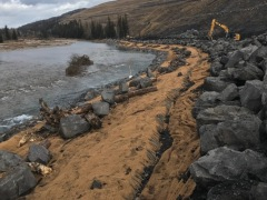 Elk River revegetation and stabilization project, Fernie BC
